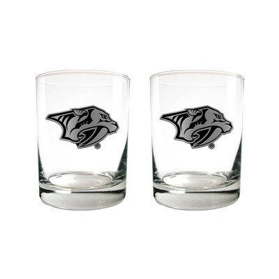 NHL Nashville Predators 2pc Stealth Legacy Rock Glass Set