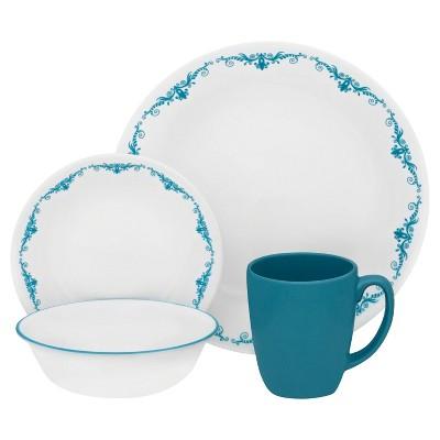 Corelle Livingware 16pc Dinnerware Set Garden Lace