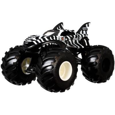 Hot Wheels Monster Trucks Zebra Shark - 1:24 Scale Vehicle