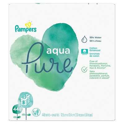 Pampers Aqua Pure 8pk Baby Wipes - 448ct