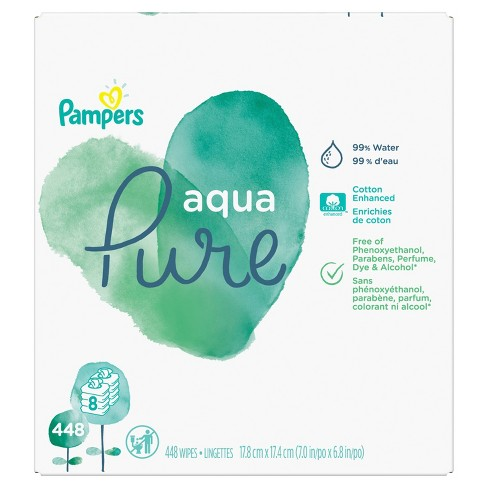 Pampers Aqua Pure 8pk Baby Wipes - 448ct - image 1 of 7
