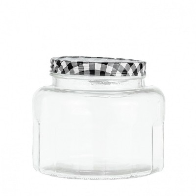Amici Home Farmstead Glass Canister Black, Wide, 86oz