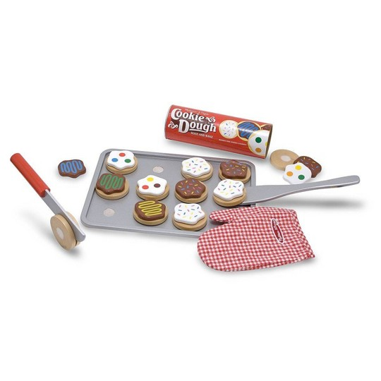 Melissa & Doug Slice and Bake Wooden Cookie Play Food Set image number null