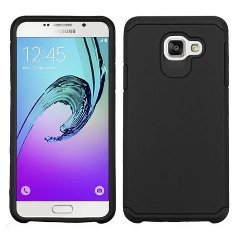 ASMYNA For Samsung Galaxy A7 (2016) Black Hard Silicone Hybrid Rubber Case - image 1 of 2