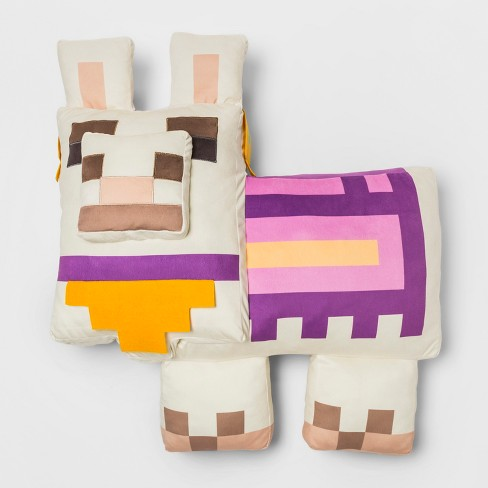 Minecraft Decorative Pillow Floor Cushion Purple