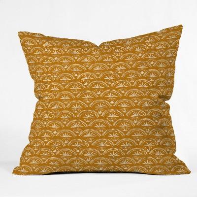 Joy Laforme Moroccan Fan Throw Pillow Yellow - Deny Designs