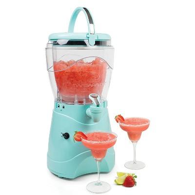Nostalgia Deluxe 1 Gallon Margarita & Slushie Machine Ice Blender w/ Easy Flow Spigot Spout, Double Wall Insulation, & Portable Carrying Handle, Aqua