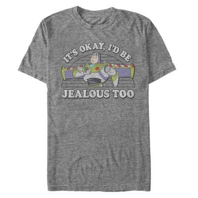 Men's Toy Story Buzz Lightyear I'd Be Jealous Too T-Shirt