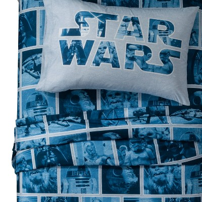 Star Wars® Blue Sheet Set (Full)