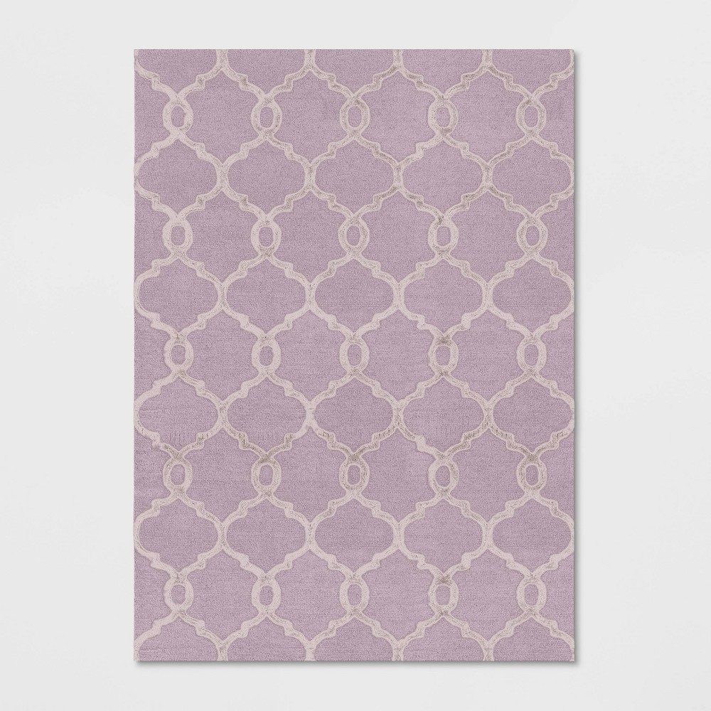 7'X10' Trellis Tufted Viscose Area Rug Pink - Opalhouse was $299.99 now $149.99 (50.0% off)