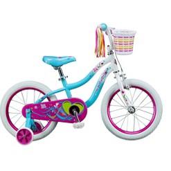 """""""Kids Schwinn Iris 16"""""""" Bike, Girl's, White Blue"""""""