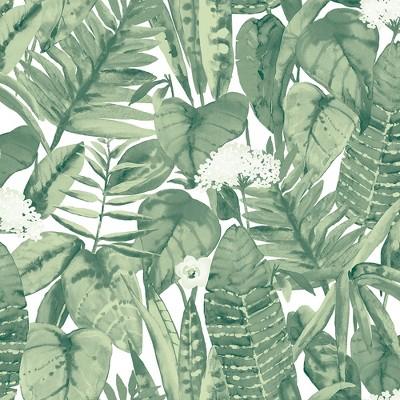 Tempaper Tropical Jungle Self Adhesive Removable Wallpaper Green