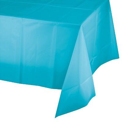 Bermuda Blue Disposable Tablecloth