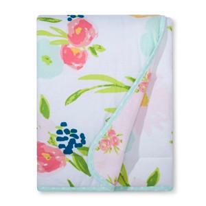 Jersey Knit Reversible Baby Blanket Floral - Cloud Island Pink, Women