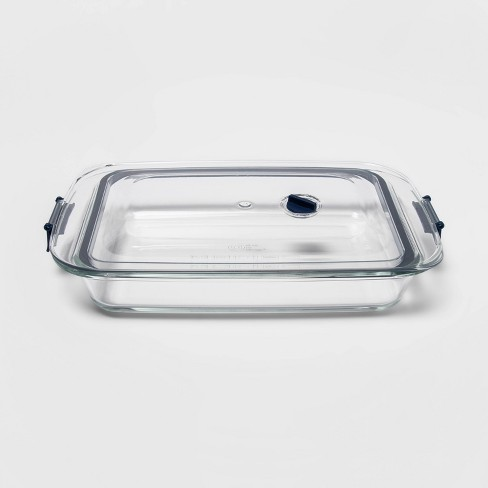 3qt Glass Baking Dish with Locking Lid - Made By Design™ - image 1 of 4