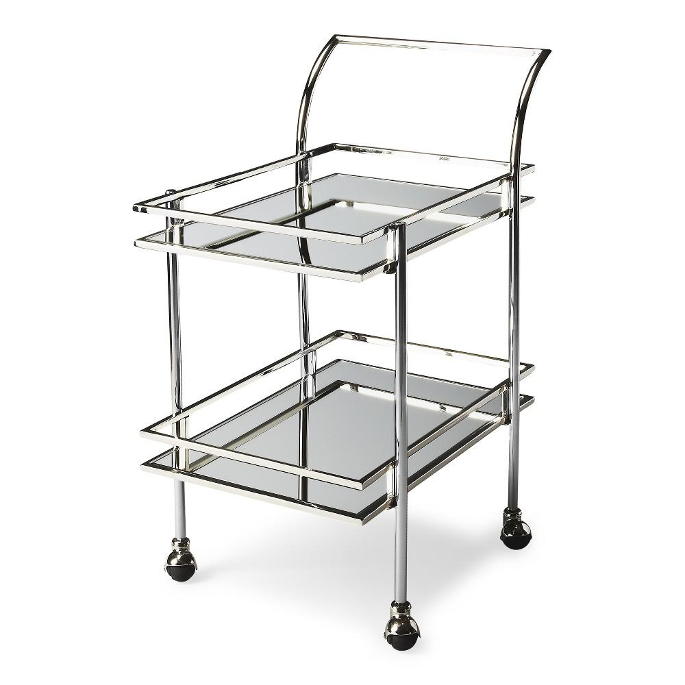 Butler Specialty Gatsby Contemporary Bar Cart Nickel