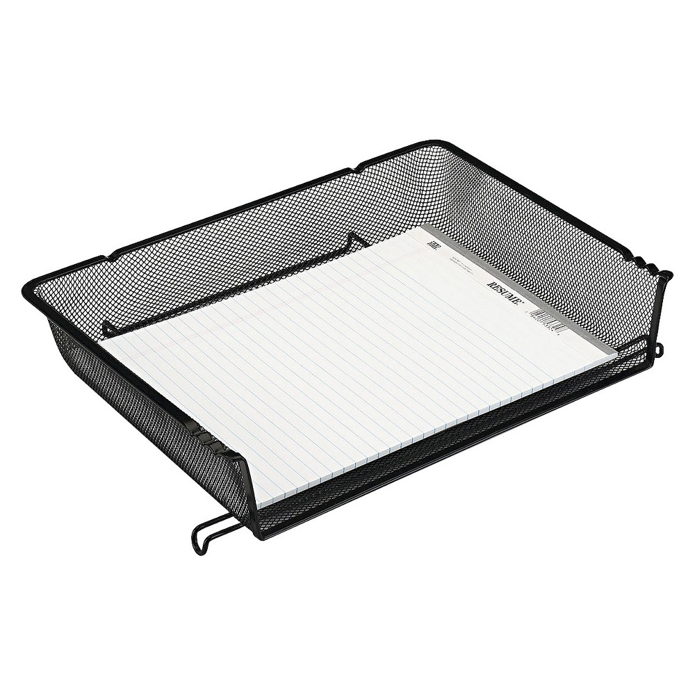 Image of Rolodex Nestable Letter Sized Wire Mesh Stacking Side Load Tray - Black