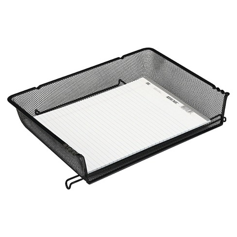 Rolodex Nestable Letter Sized Wire Mesh Stacking Side Load Tray - Black - image 1 of 1