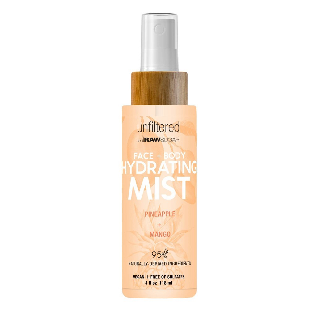 Image of Unfiltered By Raw Sugar Pineapple and Mango Face and Body Hydrating Mist - 4 fl oz