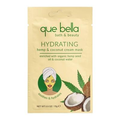 Que Bella Hydrating Coconut & Hemp Cream Mask - 0.5oz