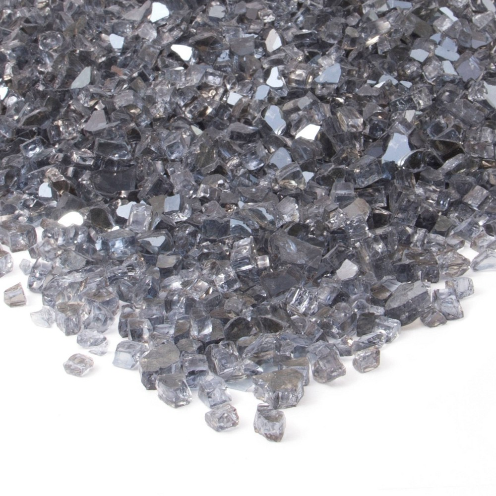 Image of 20lb Fire Glass Reflective Chips Gray - Real Flame