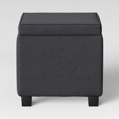Storage Ottoman With Tray Table Black - Room Essentials™