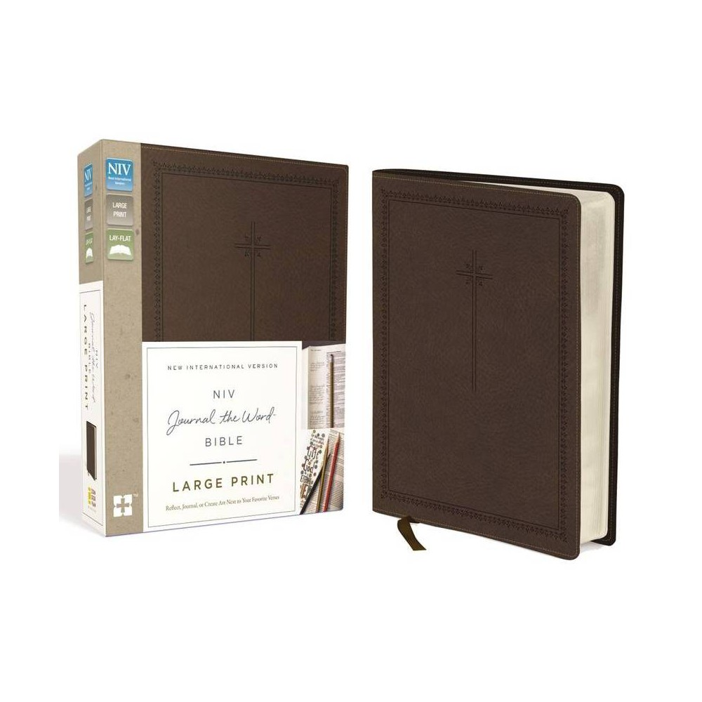 Niv Journal The Word Bible Large Print Imitation Leather Brown By Zondervan Leather Bound