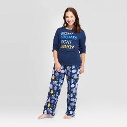 Women's Hanukkah Pajama Set - Wondershop™ Navy
