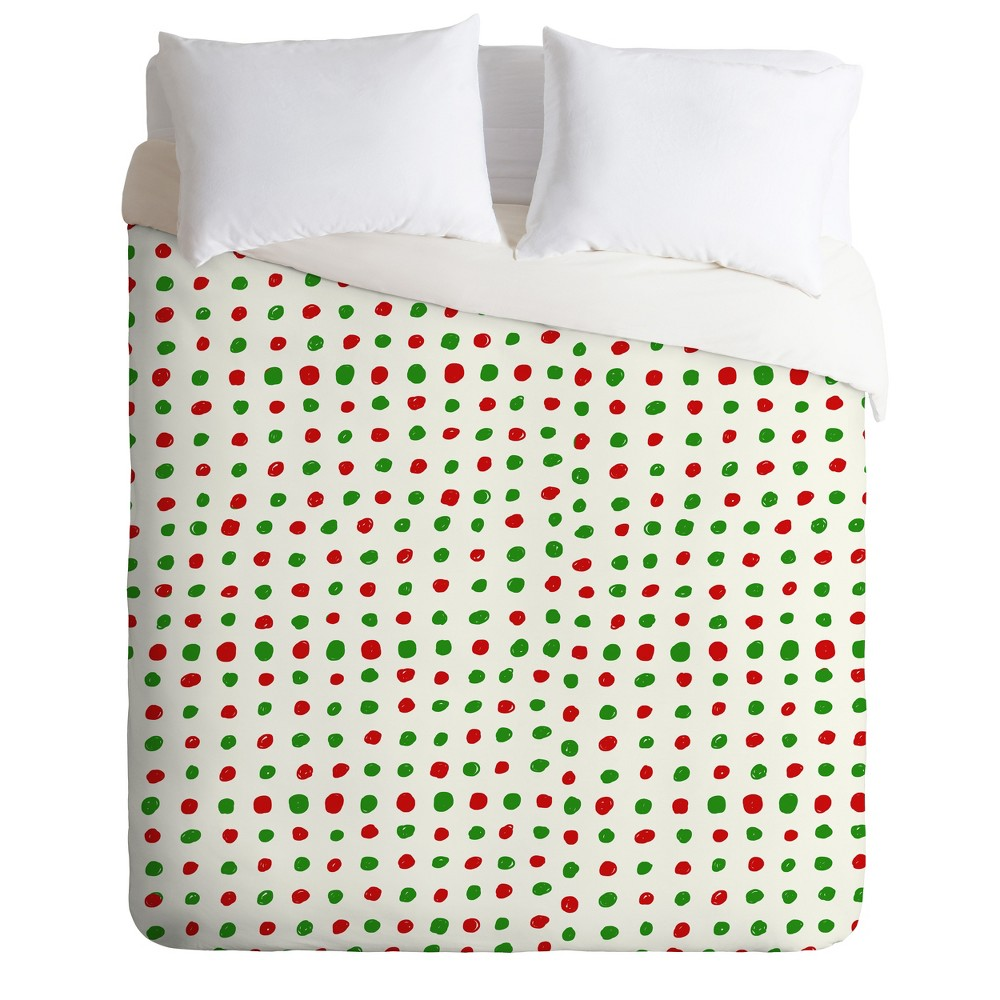 Twin/Twin XL Leah Flores Holiday Polka Dots Duvet Cover Set - Deny Designs Buy