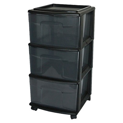 3-Drawer Medium Storage Cart - Black - Room Essentials™
