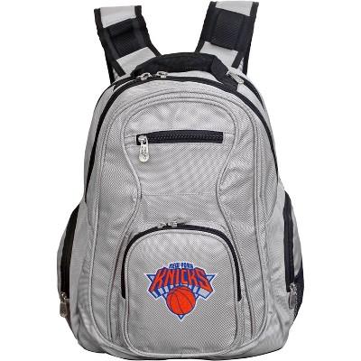 NBA New York Knicks Gray Laptop Backpack
