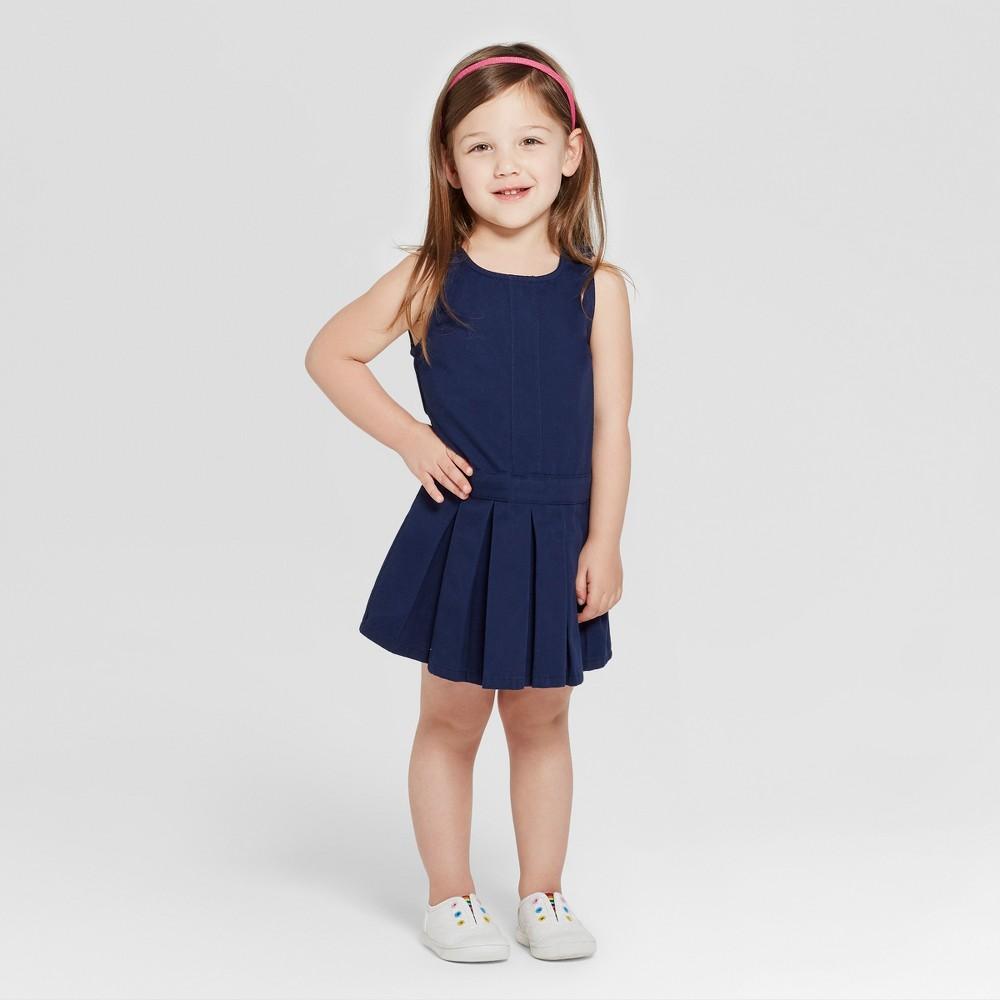 Toddler Girls' Uniform Woven Jumpers - Cat & Jack Navy (Blue) 4T
