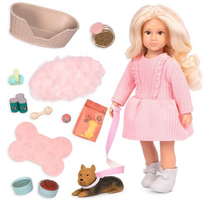 """Lori 6"""" Doll with Dog & Accessories Dafina's Pet Play Set"""