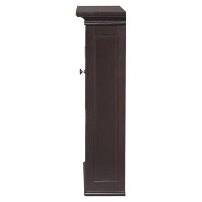 Neal Wall Medicine Cabinet Dark Espresso - Elegant Home Fashions, Brown