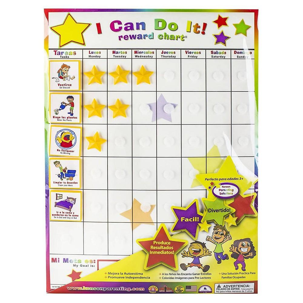 Cheap Kenson Kids Spanish English I Can Do It! Reward Chart