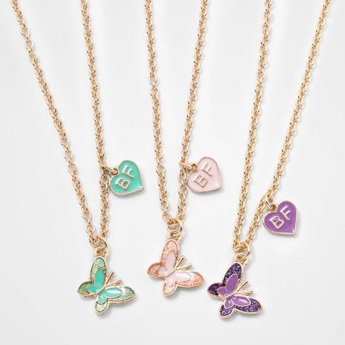 Girls' 3pk Butterfly BFF Necklace Set - Cat & Jack™ - image 1 of 2