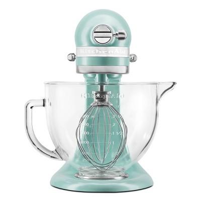 KitchenAid 5qt Glass Bowl Tilt-Head Stand Mixer with Flex Edge Beater - Ice - KSM154GBQ3IC
