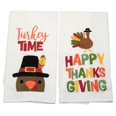 "Thanksgiving 27.0"" Happy Thanksgiving Turkey Towel Flour Sack Towels  -  Kitchen Towel"