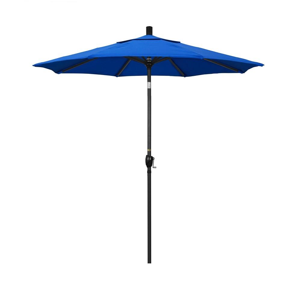 Image of 7.5' Aluminum Push Tilt Patio Umbrella - Pacific Blue