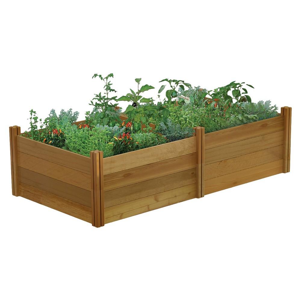 Modular Rectangular Garden - 4 Kits - Gronomics, Brown