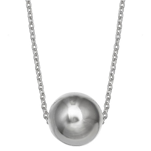 "Ball Slider Pendant in Sterling Silver - Silver (18"") - image 1 of 1"