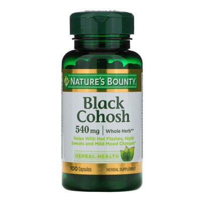 Nature's Bounty Black Cohosh, 540 mg, 100 Capsules, Herbal Supplements