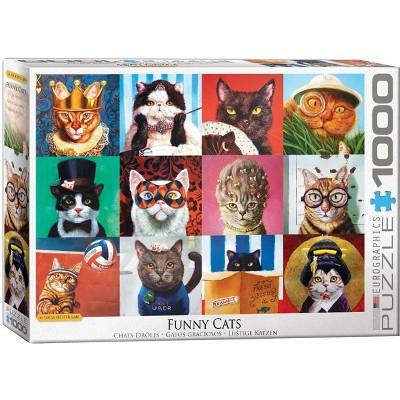 Eurographics Inc. Funny Cats by Lucia Heffernan 1000 Piece Jigsaw Puzzle