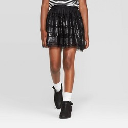 Girls' Sequin Skirt - Cat & Jack™ Black