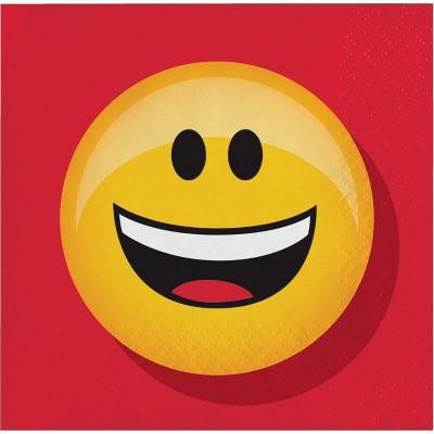"""48ct """"Smiley Emojicon"""" Beverage Napkins"""