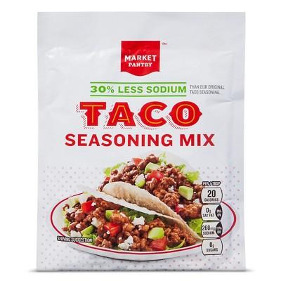 Taco Seasoning Mix 30% Less Sodium 1.25oz - Market Pantry™
