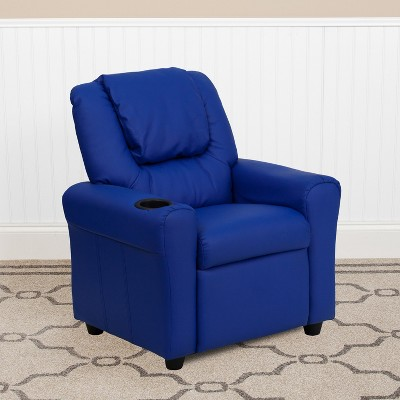 Flash Furniture Contemporary Kids Recliner with Cup Holder and Headrest