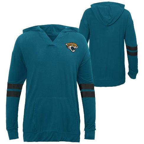 NFL Jacksonville Jaguars Girls' Dark Lightweight Hoodie - image 1 of 3