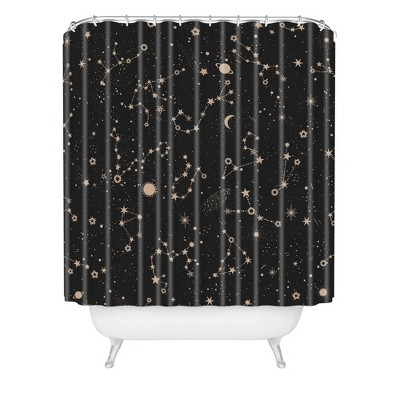 Iveta Abolina Starry Night Shower Curtain Black - Deny Designs