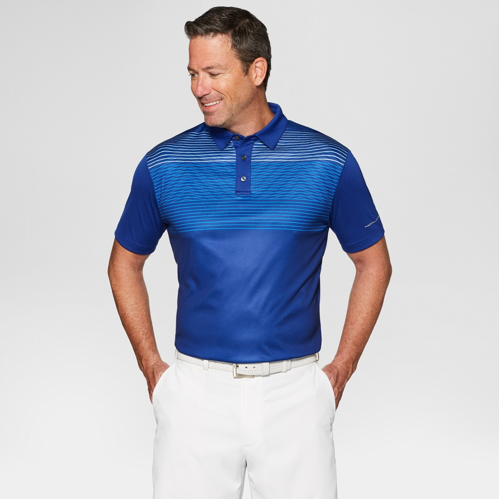 Jack Nicklaus Men's Striped Golf Polo Shirt - Sodalite Blue XL